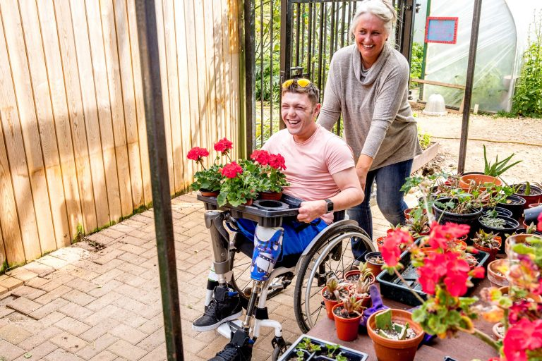 Disable man getting support a carer from enabling good lives fund